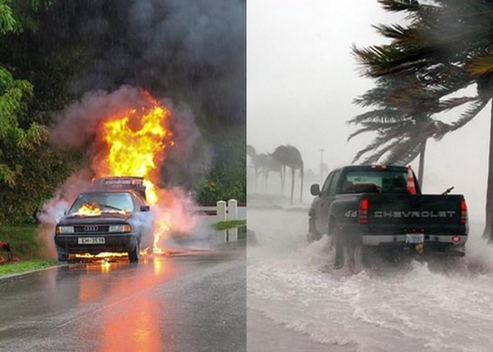 ตวมาคุ้มครองไฟไหม้ น้ำท่วมรถยนต์