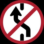 ห้ามเปลี่ยนช่องเดินรถไปทางซ้าย
