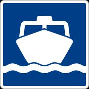 ป้ายชี้ทางไปท่าเรือโดยสาร