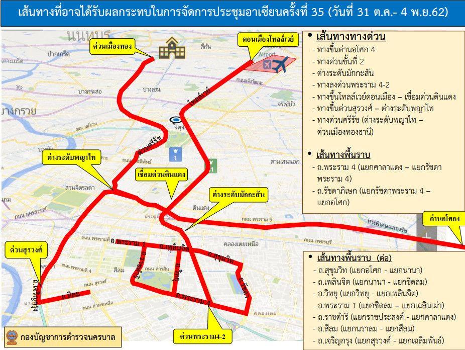 ประชุมอาเซียน ควรเลี่ยงเส้นทางไหน