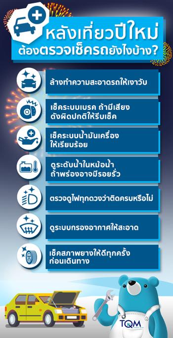 หลังเที่ยวปีใหม่ ต้องตรวจเช็ครถยังไงบ้าง